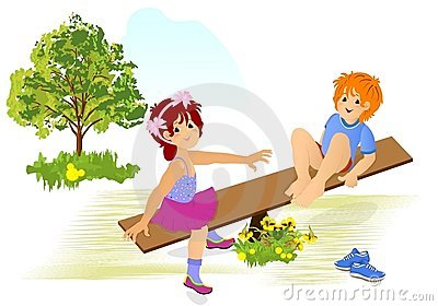 Kids playing, cdr vector