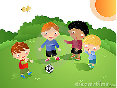 Kids Playing - Football