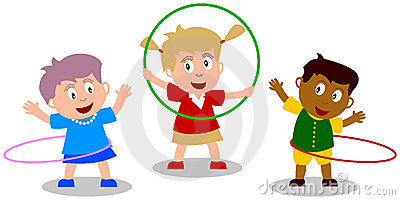 Kids Playing - Hula Hoop