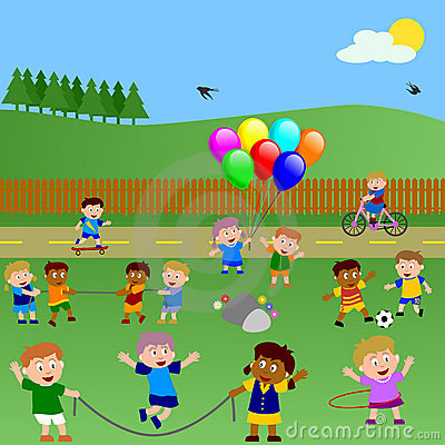 Free Kids Playing In The Park Royalty Free Stock Photos - 6735208