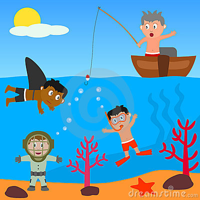 Free Kids Playing In The Sea Royalty Free Stock Photos - 8525168