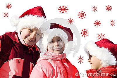 Kids Playing Santa Claus-3
