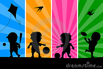 Kids Playing Silhouettes [1]