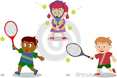 Kids Playing - Tennis