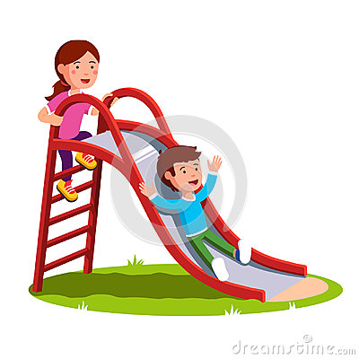 Free Kids Playing Together Outside On The Playground Royalty Free Stock Photos - 97947808