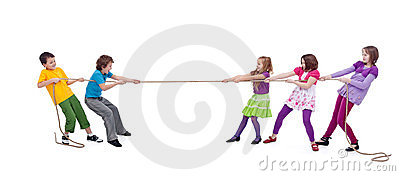 Kids Playing Tug Of War Stock Photography - Image: 23737162