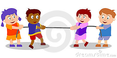 Kids Playing - Tug of War