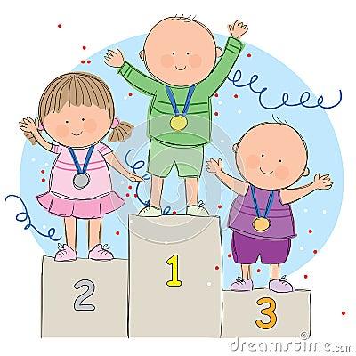 Kids on podium