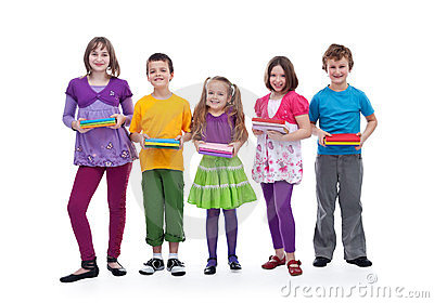 Kids preparing for school