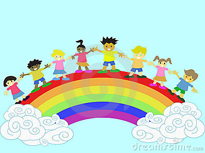 Kids on the rainbow