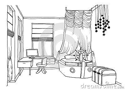 Kids Bedroom Drawing brilliant kids bedroom drawing on ideas