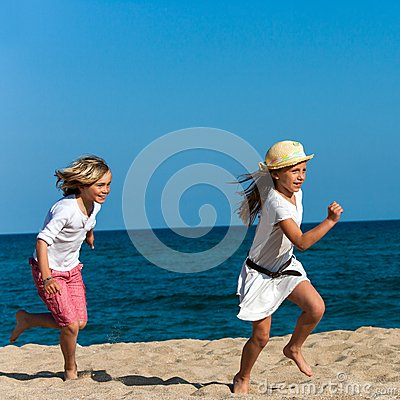 Kids Running After Each Other Royalty Free Stock Photo