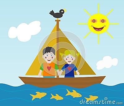 Kids sailing adventure