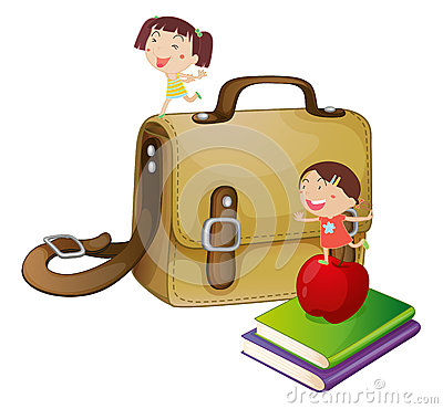 Kids with a school bag