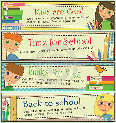 Kids in School Banners