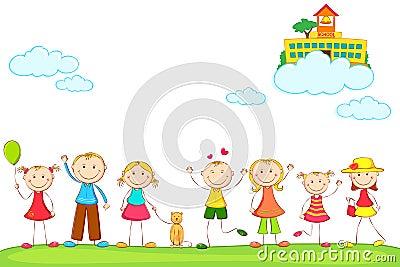 Kids with School on Cloud