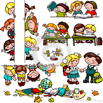 Kids school set