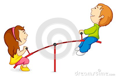 Kids on Seesaw