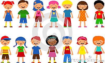 Kids - set of cute illustrations,