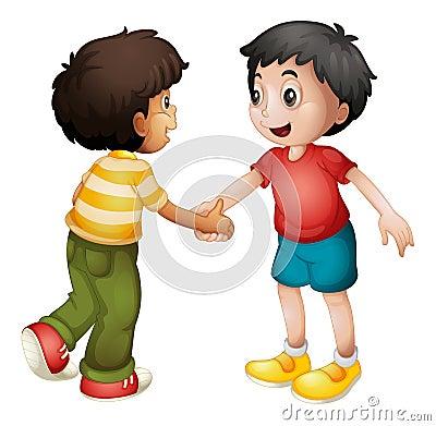 Free Kids Shaking Hands Royalty Free Stock Photos - 26992058