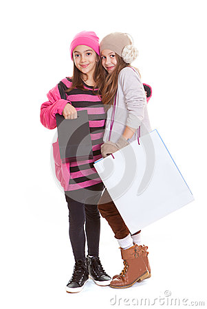 Kids shopping bags
