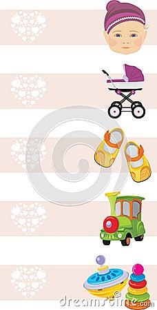 Kids shopping center. Banners for design Vector Illustration