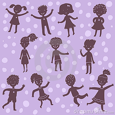 Kids silhoeuttes