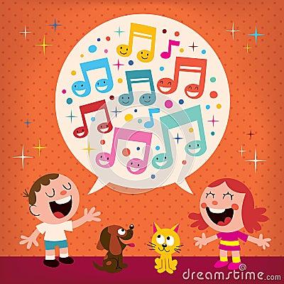 Free Kids Singing Royalty Free Stock Image - 28345056