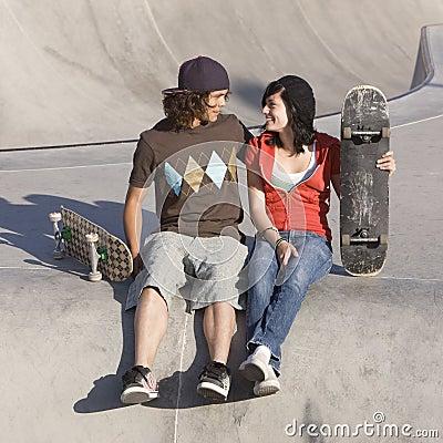 Kids at skatepark