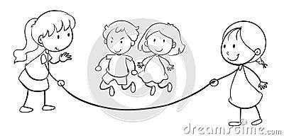 Kids skip rope