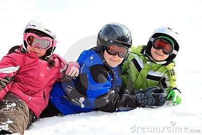Kids in snow gear