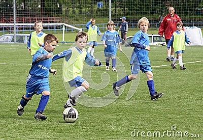 kids soccer match Editorial Stock Image