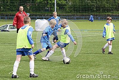 kids soccer match Editorial Photo