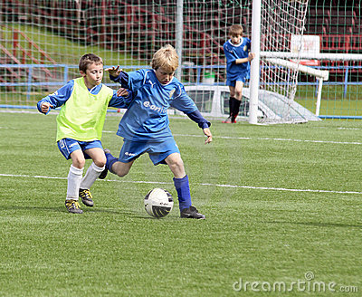 kids soccer match Editorial Image