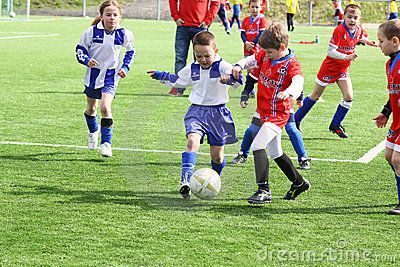 Kids soccer match Editorial Stock Photo