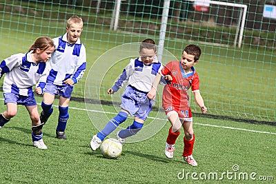 Kids soccer match