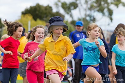 Kids in sports race Editorial Photography