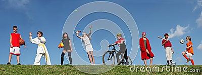 kids sports summer camp Stock Photo