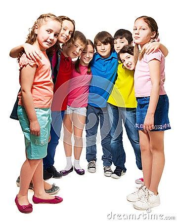 Kids standing in semi-circle