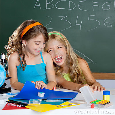 Free Kids Student Girls At School Classroom Stock Image - 20983911