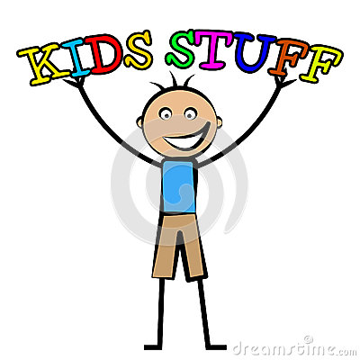 Free Kids Stuff Represents Free Time And Child Royalty Free Stock Photos - 46492608