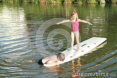 Kids on surf