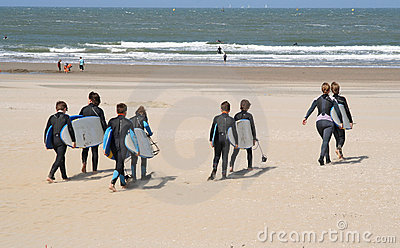 Kids with Surfboards