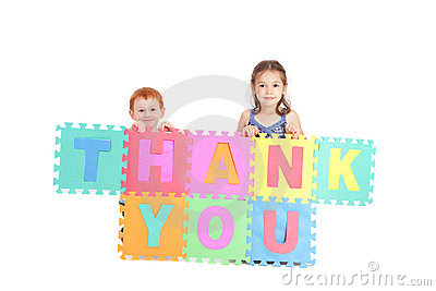 Kids thank you sign