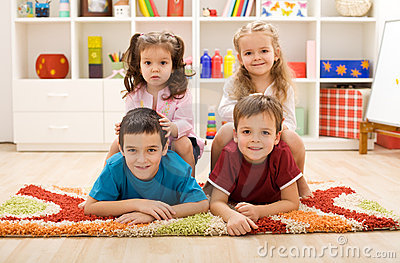Kids in their room
