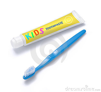 Kids Toothpaste and Toothbrush