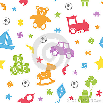 Free Kids Toys Seamless Pattern [1] Royalty Free Stock Image - 27472516