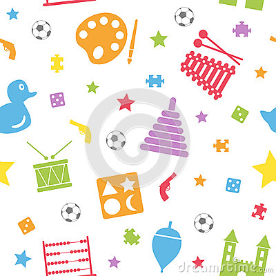Free Kids Toys Seamless Pattern [2] Royalty Free Stock Photos - 27472528