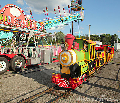 Kids Train Ride Editorial Stock Image