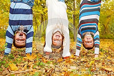 Kids upside down